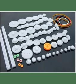 Kit De Piñones - Engranajes Y Poleas X 75 Unidades