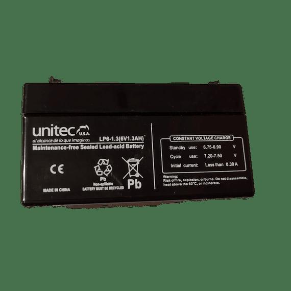 Bateria Recargable Seca 6V 1.3Ah