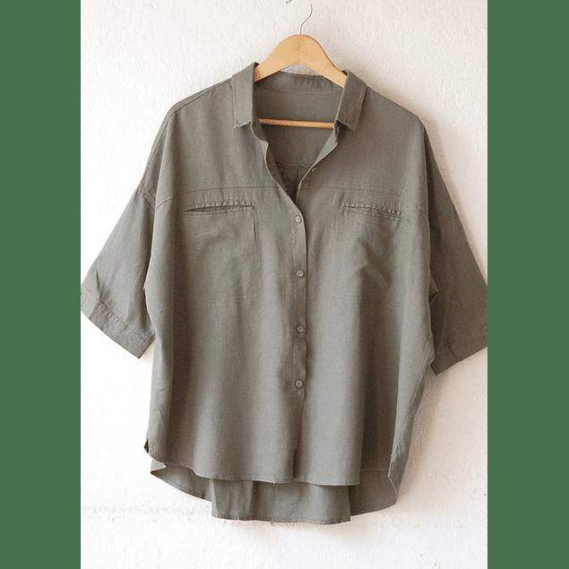 Blusa Dominga Lino verde