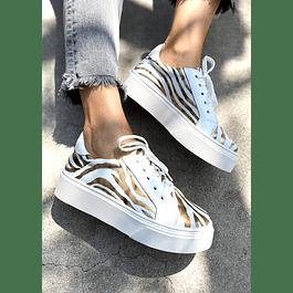 Zapatilla Diseño Dorado