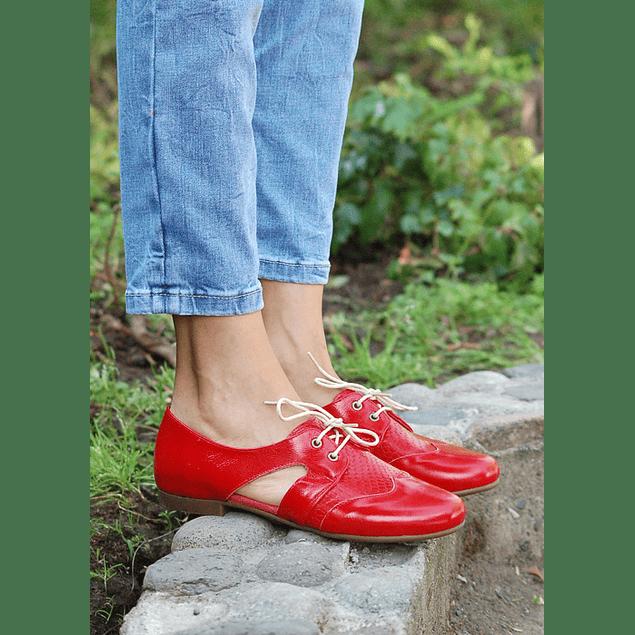 Zapato Cutout Rojo