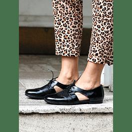 Zapato Cutout Negro Richato