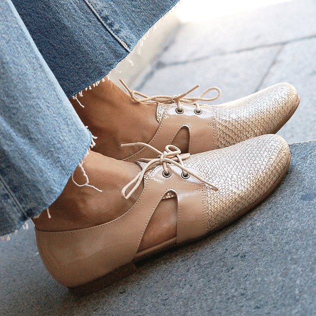 Zapato Cutout Nude textura