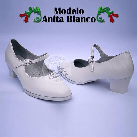 Zapatos Cueca Modelo Anita Blanco