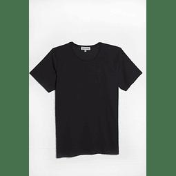 Polera Negra escote Redondo