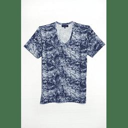 Polera Tye Dye Azul-Blanco