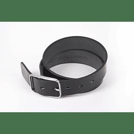 Cinturón Oval Negro Brillo Medio