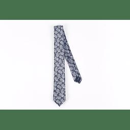 Corbata Azul Calabazas Grises