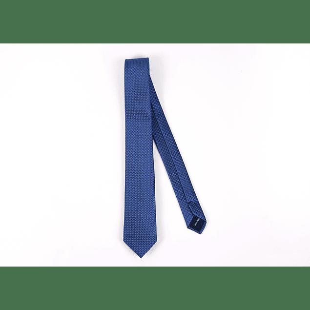 Corbata Azul Francia Cuadrados