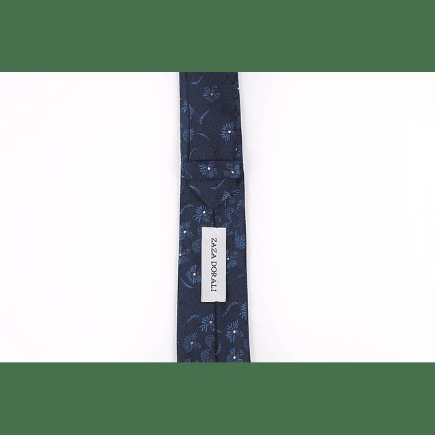 Corbata Azul marino floreado