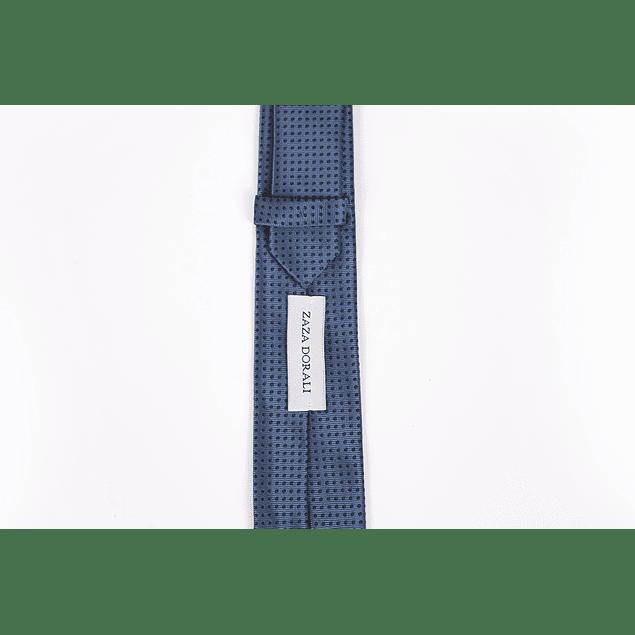 Corbata azul puntos negros