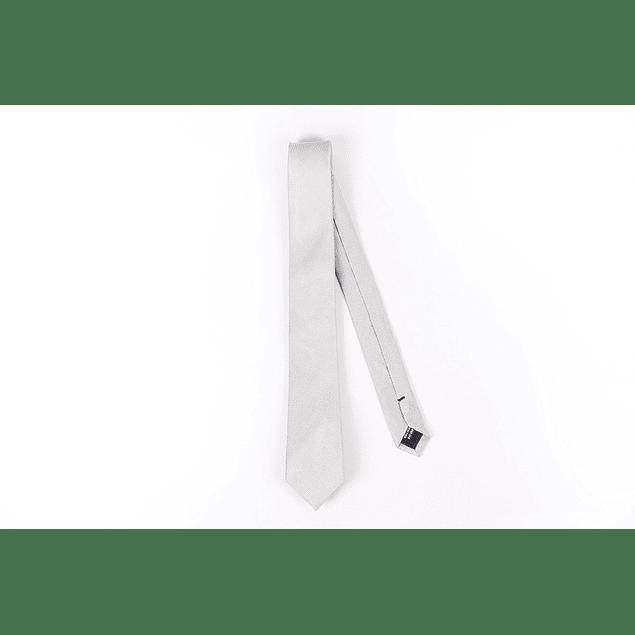 Corbata blanca lisa