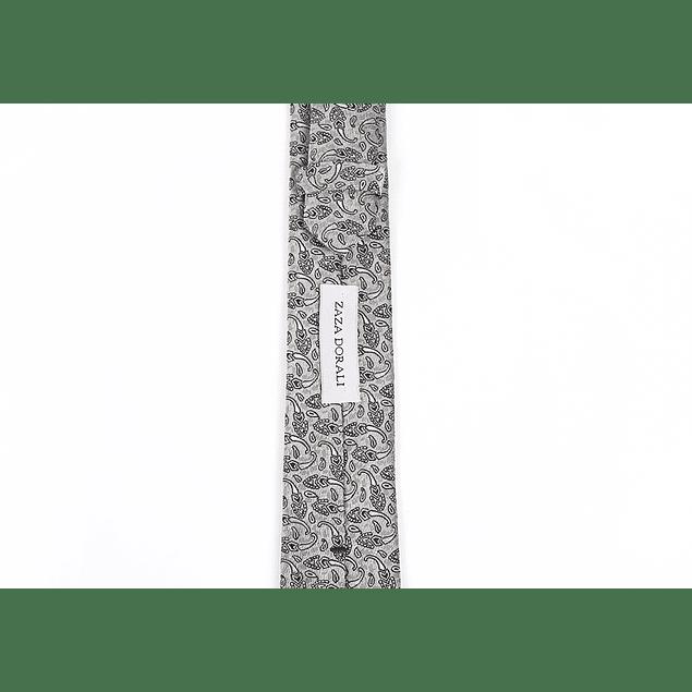 Corbata Gris espigas negras