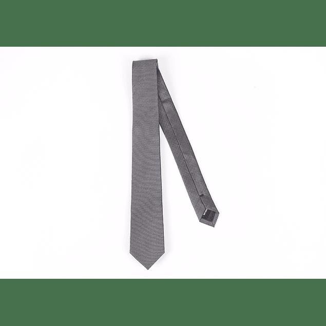 Corbata Gris puntos grises