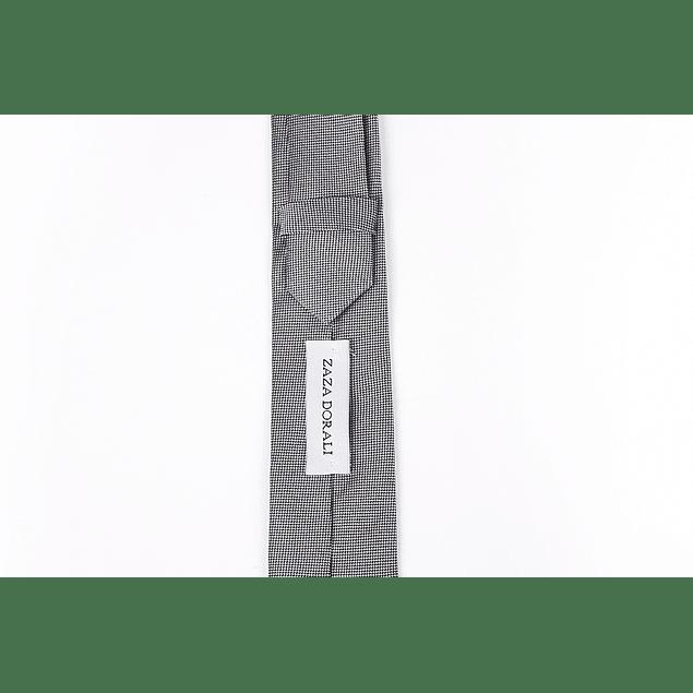 Corbata Gris puntos negros