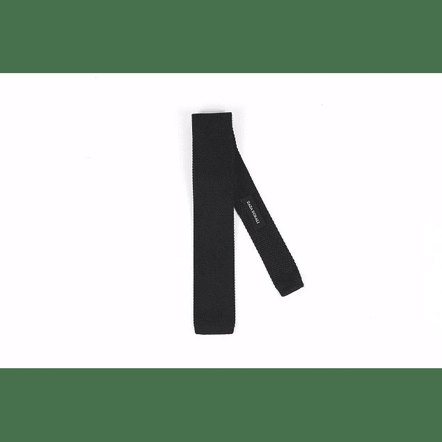 Corbata Negra tejida