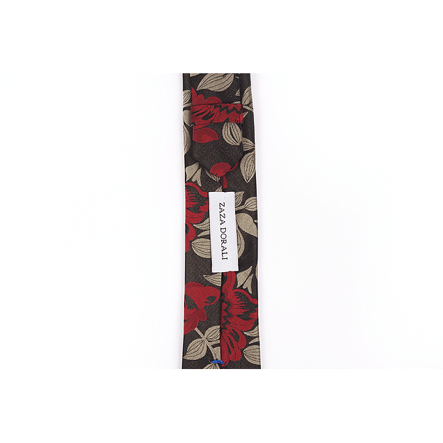 Corbata Negro rosas rojas