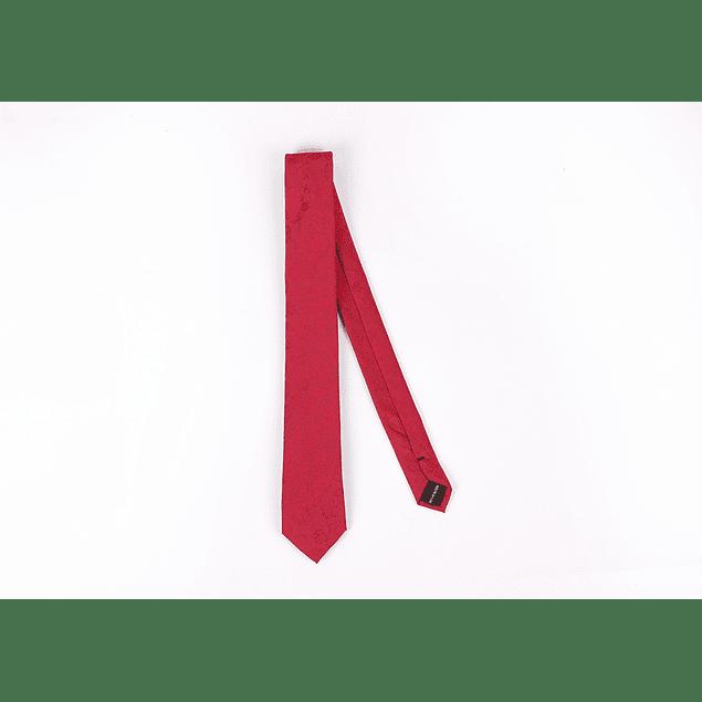 Corbata Rojo flores