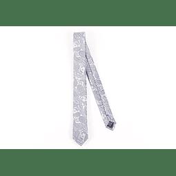 Corbata Blanco calabazas grises