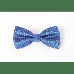 Corbatín Azul francia cuadrados