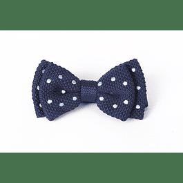 Corbatín Azul tejido puntos celestes
