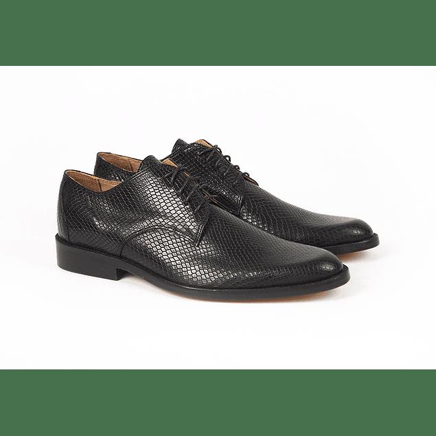 Zapatos Barcelona Víbora Negro