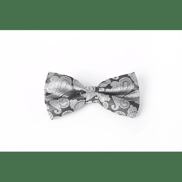 Corbatín Verde calabazas grises