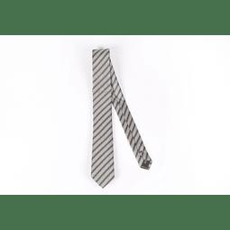 Corbata Gris líneas y cuadros