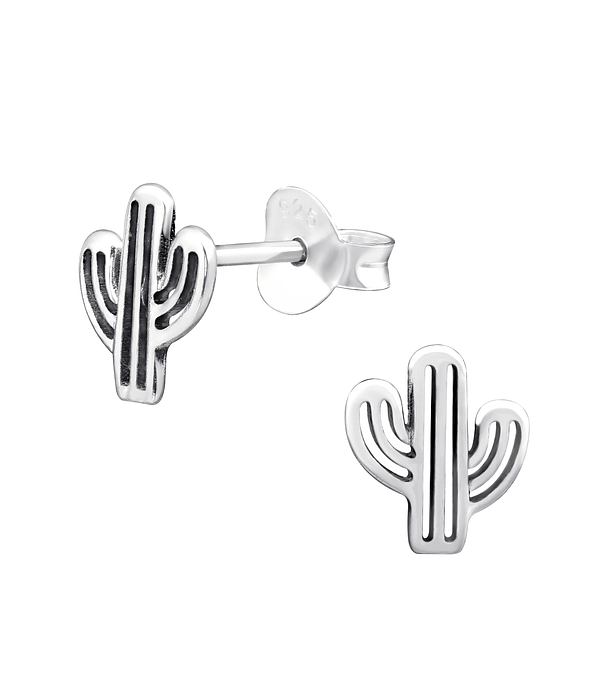 Aros Cactus - Plata 925