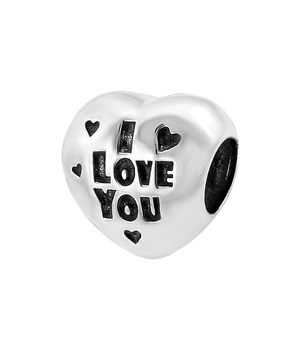 "Charm Corazon ""I love you"" - Plata 925"