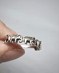 Anillo Elefantes - Plata 925 Sterling Envejecida