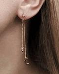 Aros Pendientes Luna & Estrella  - Plata 925 Chapado en oro