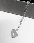 Collar Patitas Bebè - Plata 925
