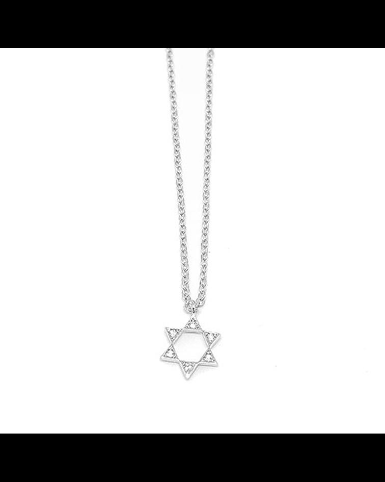 Estrella de David - Plata 925 Zirconia