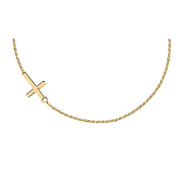Collar Cruz  - Plata 925 Chapado en Oro