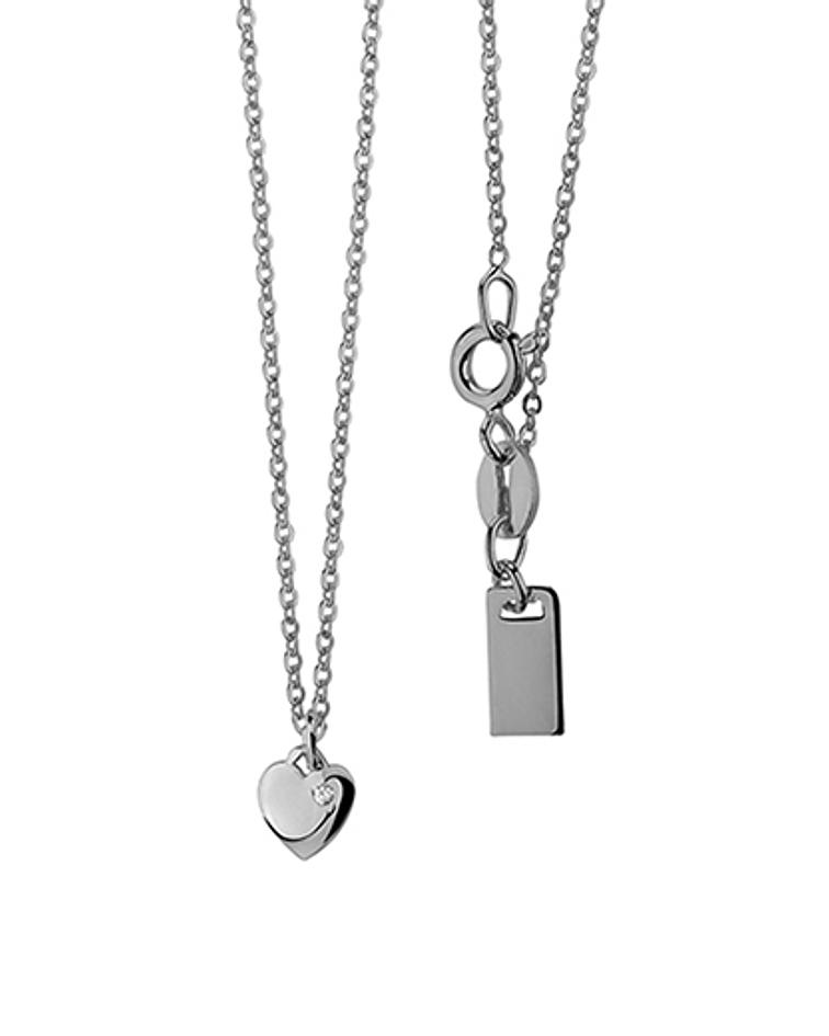 Collar Corazon - Plata 925 Zirconia