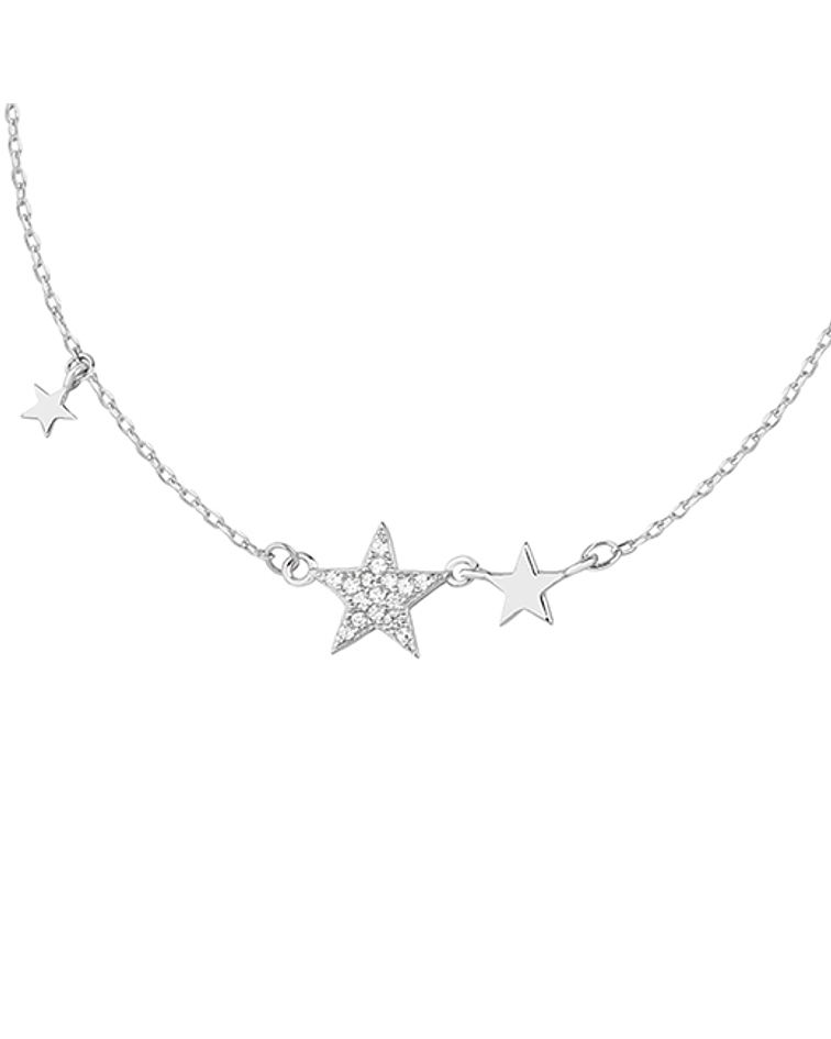 Collar Estrellas  - Plata 925 Zirconia