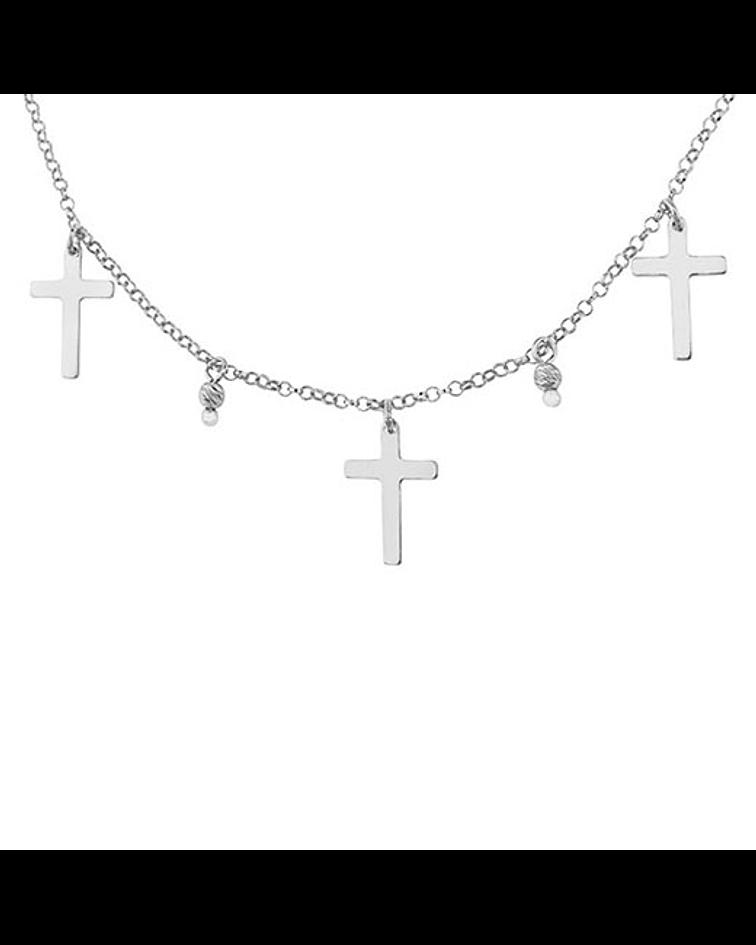 Collar Cruces Gargantilla - Plata 925