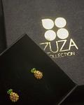 Aros Piña - Plata 925 Chapado en Oro