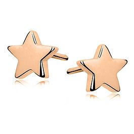 Aros Estrella - Plata 925 chapado en Oro