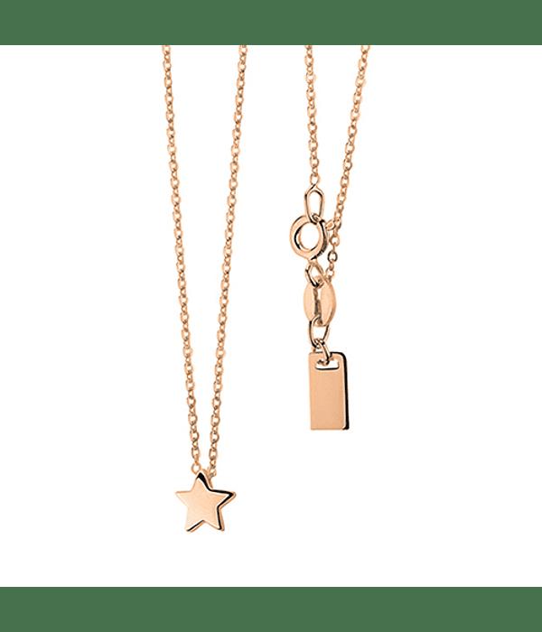 Collar Estrella - Plata 925 chapado en Oro