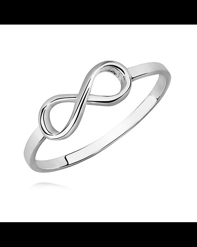 Anillo Simbolo de Infinito - Plata 925 Sterling