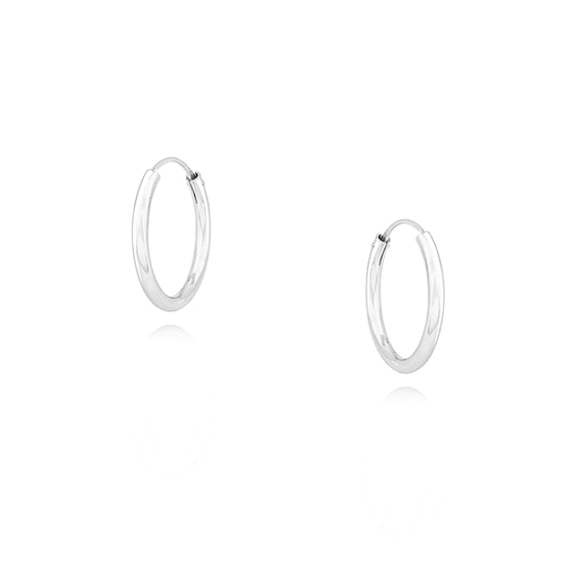 Aros Argollas 18mm - Plata 925 Sterling