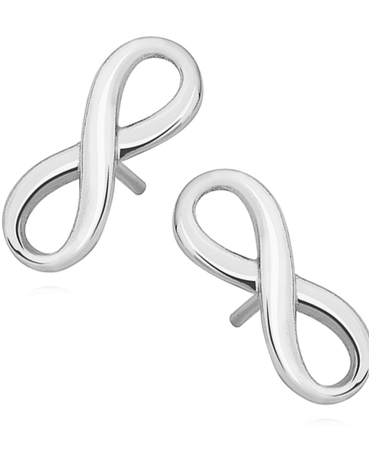 Aros Símbolo de Infinito - Plata 925
