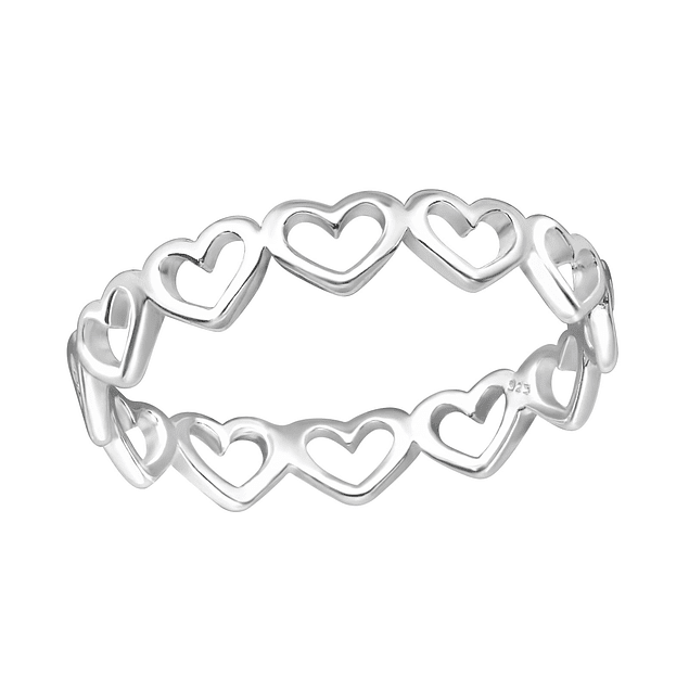 Anillo Corazonsitos - Plata 925 Sterling