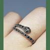 Anillo Serpiente  - Plata 925 Zirconia Black