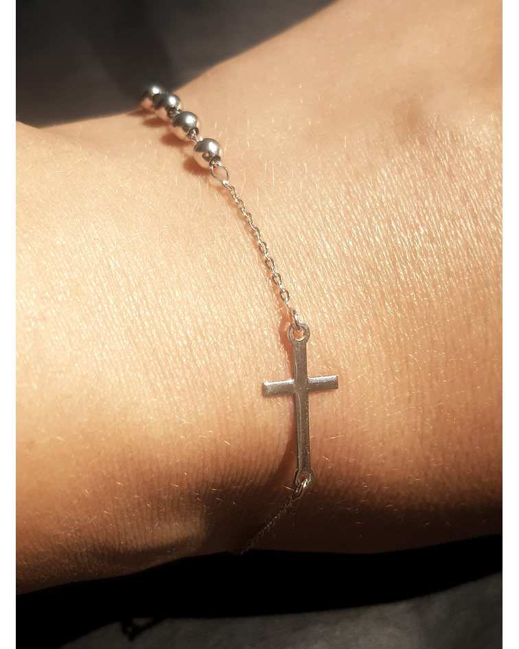 Pulsera Cruz - Plata 925 Sterling