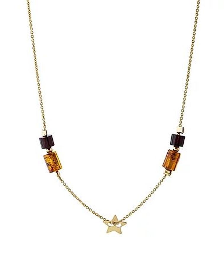 Collar Estrella de Plata 925 Chapado en Oro