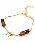 Pulsera Estrella de Plata 925 Chapado en Oro