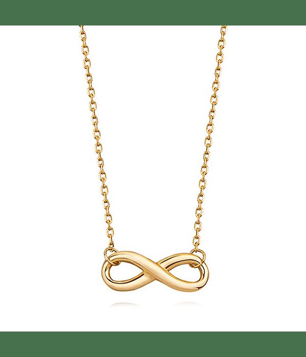 Collar Símbolo de Infinito - Plata 925 Chapado en Oro
